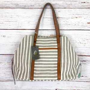 Street Level Anchorage striped canvas tote